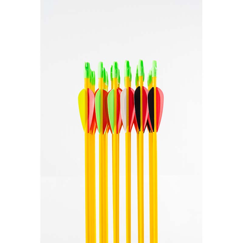 hi-impact fiberglass arrows with vanes