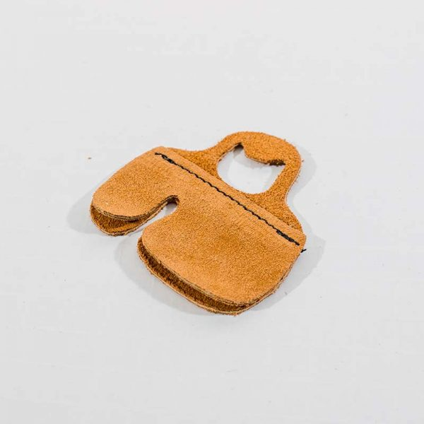 Double Layer Suede Leather Tab