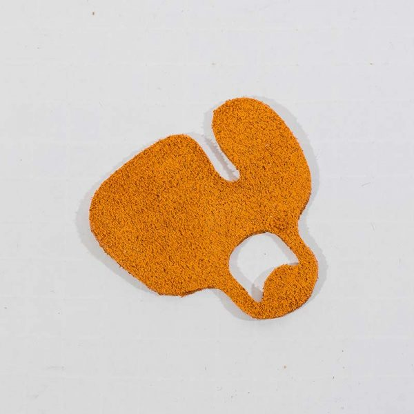 Single Layer Suede Leather Tab