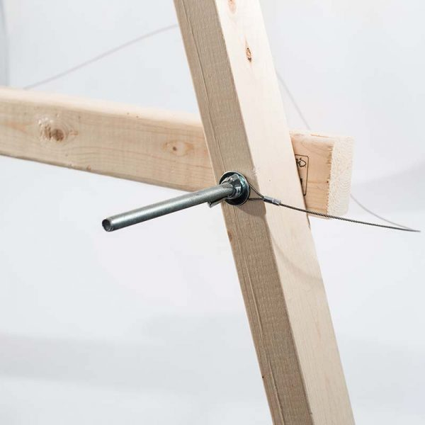 """Wooden A-Frame Target Stand for 36"""" Mat"""
