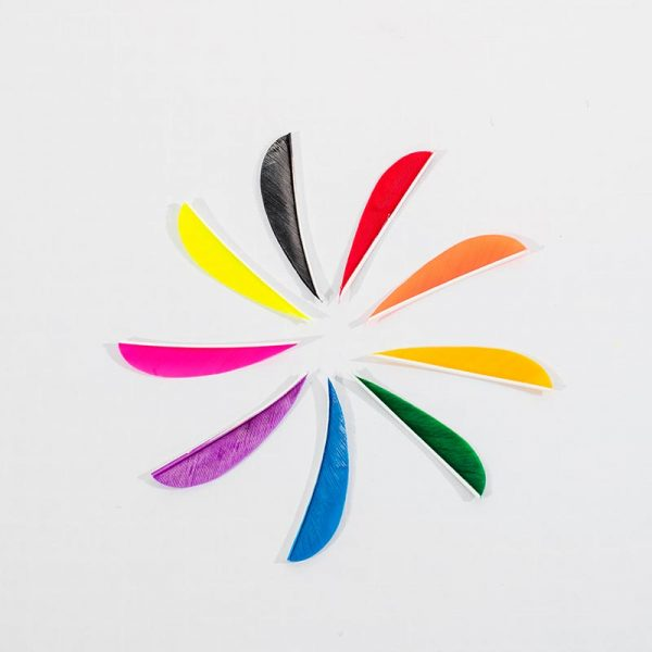 """3"""" Dye Cut Turkey Feather"""